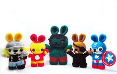 the bunnyvengers pattern costs $2.95 - cute though...