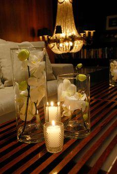 orquideas, velas