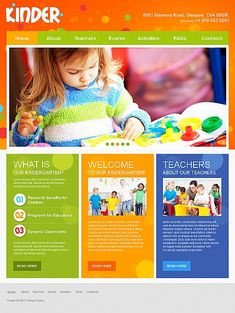 Kinder Children Moto CMS HTML Templates by Mercury