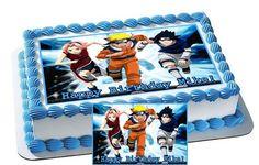 Naruto cake anime cakes pinterest for Anime beyblade cake topper decoration set