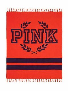 Victoria's Secret Pink Blanket Neon Red and Black Fringe Edges Throw Yellow Throw Blanket, Electric Throw Blanket, Heated Throw Blanket, Pink Nation, Victoria's Secret Pink, Victoria Secret, Neon, Snapchat Ideas, Things To Sell