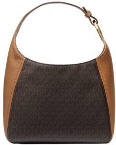 Fulton Large Leather Hobo #sponsored #ad #paid   Thank you Macy's for sponsoring today's post. Michael Kors Fulton, Michael Kors Jet, Handbags Michael Kors, Brown Leather Purses, Handbag Accessories, Girls Shoes, Shoulder Bag, Trending Handbags, Women Bags