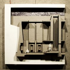 "Section Model/Graphic of ""The Quinquennial Vaults"" - Daniel Johnson, USF School of Architecture - Thesis: ""The Architecture of Death: A Study of Thanantological Space & Mnemonic Ritualization"" - Spring 2012, Prof. Nancy Sanders"