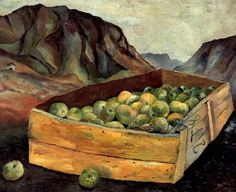 Lucian Freud, Box of Apples in Wales, 1939, surrealism
