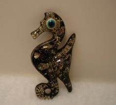 SEA HORSE- Wall Plaque-Handmade with Abalone Shells-Reserved for Rachael