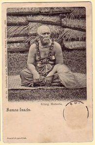King Mataafa, Samoa, 1899
