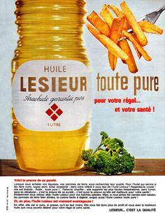 Publicité Lesieur - 1964 - huile d'arachide -