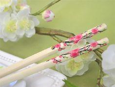 Asian-Fusion Theme Wedding..gorgeous chopsticks