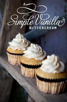 {Recipe} Simple Vanilla Buttercream - Whipperberry