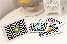 monogram card ideas by @Amber Daigre