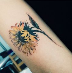 sunflower-tattoo-58 - 60+ Sunflower Tattoo Ideas
