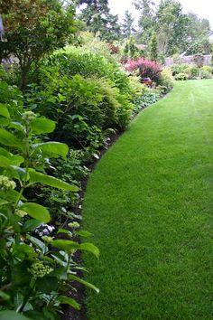 Sweeping curves in the lawn & planted borders Diy Garden, Shade Garden, Dream Garden, Lawn And Garden, Lawn Edging, Garden Edging, Garden Borders, Gardening, Garden Spaces