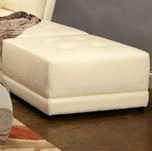 The large square ottoman offers a cozy spot to rest your feet, with a plush modern tufted look top cushion. Large Square Ottoman, Vanity Stool, Leather Ottoman, Ottoman Bench, Bonded Leather, Contemporary, Modern, Mattress, Coasters