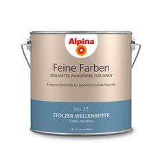 Alpina Feine Farben No. 13 – Stolzer Wellenreiter. #Design #Design #DIY #Farbe…