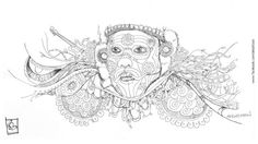 #theyyam #kannur #kerala Pen On Paper on Behance