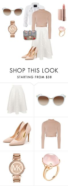 """Bright pastel"" by melodysk ❤ liked on Polyvore featuring New Look, maurices, Rupert Sanderson, Jonathan Simkhai, Michael Kors, Goshwara and Valentino"