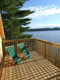 With water views and two decks, the Algonquin Island Retreat is fantastic for artisans or couples looking for a quiet getaway in nature. Outdoor Chairs, Outdoor Furniture, Outdoor Decor, Algonquin Park, Photo Galleries, Cottage, Island, Vacation, Couples