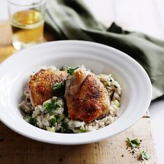 40 Chicken Thigh Recipes:    Indonesian Coconut Rice with Chicken and Zucchini