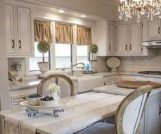 Style Kitchen Decor If you love style that is warm, comfortable, and beautiful all at the same time, you're likely a fan of French country designs. A French country kitchen is no different – in a place that has… Continue Reading → Cute Kitchen, Stylish Kitchen, Kitchen Decor, Kitchen Ideas, Tuscan Curtains, Cottage Curtains, Country Kitchen Curtains, Kitchen Curtains And Valances, Farmhouse Window Treatments