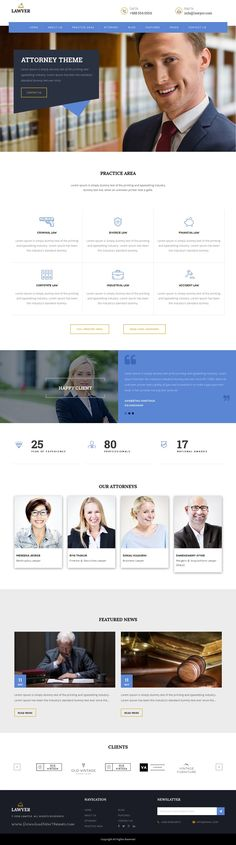 Lawyer is perfect WordPress #Theme for law related services #website like #Lawyers, private attorney, Advocates. It includes all the functionality needed for legal services. Download Now!
