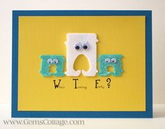"""Gotta love and laugh: wiggly eyes AND bag tabs, oh my! """"Bread Tab Humor"""" by Gem's Cottage Cool Cards, Diy Cards, Button Cards, Scrapbook Cards, Scrapbooking, Birthday Cards, Humor Birthday, Funny Cards, Halloween Cards"""