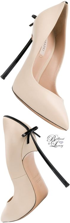 Brilliant Luxury ♦ Casadei Blade bow embellished pumps