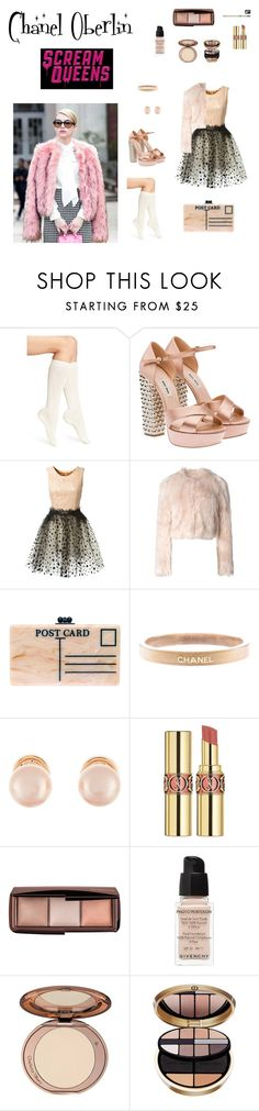 """""""Chanel Oberlin Scream Queens Inspired x"""" by x-martilovesfashionx ❤ liked on Polyvore featuring mode, Calvin Klein, Miu Miu, Loyd/Ford, RED Valentino, Edie Parker, Chanel, Kenneth Jay Lane, Yves Saint Laurent et Hourglass Cosmetics"""