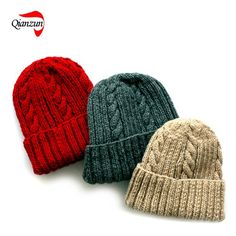 China Warm Knitted Beanie Hat Pattern (HF019) - China Knitted Hat, Cable-Knit Hat