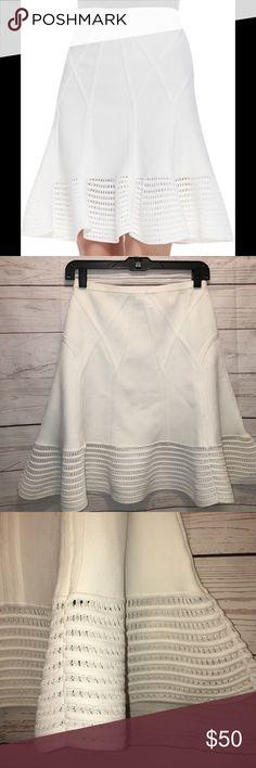 Diane von Furstenberg Sz Small Samara skirt Samara flared crochet hem skirt in white. In good condition. Great skirt for Spring and Summer. Retails for $365+ No trades please. Diane von Furstenberg Skirts