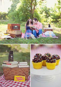i love this picnic photo shoot idea