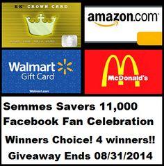 Facebook Fan Celebration - Four Winners! #giveaway | The Mommy Bunch
