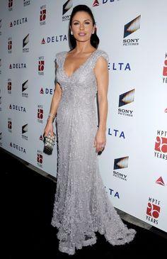 Catherine Zeta Jones glittering gown  shared to group 2/10/17