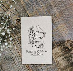 50 Customized Eco-Friendly Let Love Grow Wedding Seed Favor Kraft Envelopes