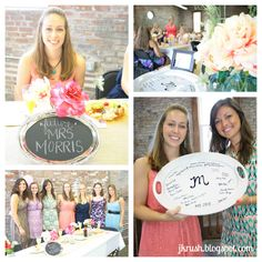 Bridal shower brunch - love the idea of everyone signing a serving platter in sharpie!  For my friends when they get married ;)