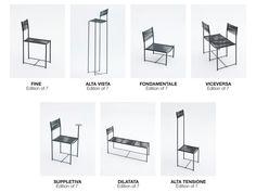 Alias. Spaghetti chair Limited Edition by Alfredo Häberli. Sette pezzi unici della prima sedia Alias, reinterpretati dal designer argentino.