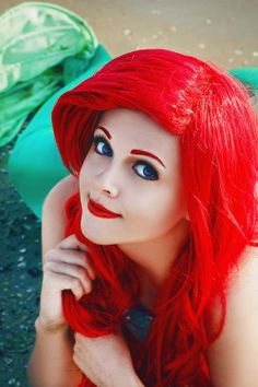 Ariel from THE LITTLE MERMAID. This cosplay is actually pretty good