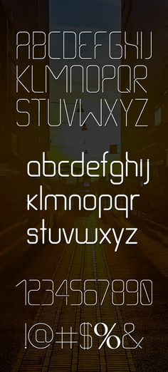 Thin Line font letters