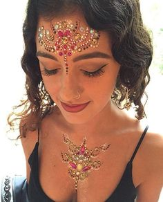 Pink and gold festival jewels