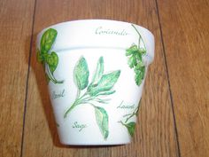 Decorated Flower Pots - Decoupage