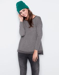 :BASIC STRIPED T-SHIRT