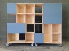Scheidingskast met bulletinboard (prikbord)