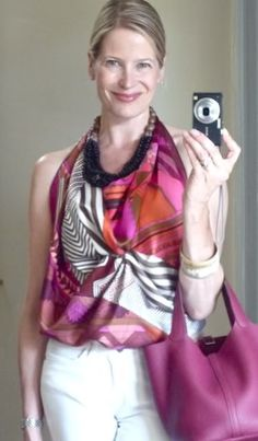MaiTai's Picture Book: Coupons Indiens scarf as a halter top