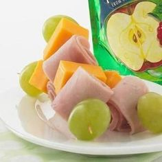 No-Cook Kabob - all my kid's favourite lunch foods. How fun would it be to make her lunch into a kabob!