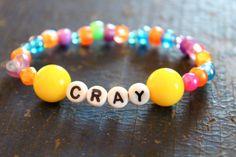 Cray Beaded Kandi Bracelet by WhisperOwl on Etsy