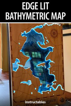 A laser cut multi-level bathymetric map makes for great decoration or gift. #Instructables #lasercut #workshop #LED #lighting Diy Guitar Stand, Wood Projects, Projects To Try, Cool Glow, 3d Cnc, Nail Gun, Baltic Birch Plywood, Wood Glue, Perfect World