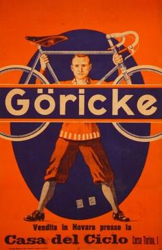 1930 Goricke, Italy Bikes vintage advert poster
