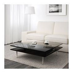 IKEA - TOFTERYD, Coffee table, high gloss white, , Separate shelf for magazines, etc. helps you keep your things organized and the table top clear.Smooth-running drawers for storing remote controls, magazines, etc.