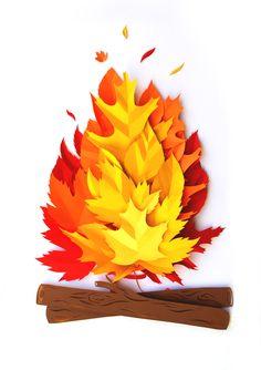 pollylindsay: Paper fire - https://www.behance.net/gallery/22959547/Paper-Fire