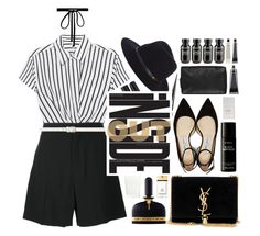"""down"" by dffn-dn ❤ liked on Polyvore featuring T By Alexander Wang, Chloé, Dorothy Perkins, Jimmy Choo, rag & bone, Yves Saint Laurent, Liberty, Christian Louboutin, Smashbox and Tom Ford"
