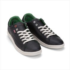 #jeanspl #shoes #levis #trampki #black #green